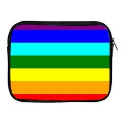 Rainbow Apple Ipad 2/3/4 Zipper Cases by Valentinaart