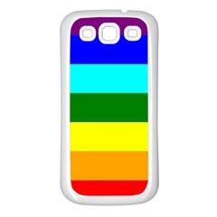 Rainbow Samsung Galaxy S3 Back Case (white) by Valentinaart