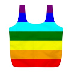 Rainbow Full Print Recycle Bags (l)  by Valentinaart