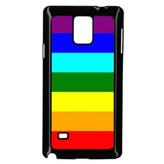 Rainbow Samsung Galaxy Note 4 Case (black) by Valentinaart