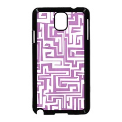 Pattern Samsung Galaxy Note 3 Neo Hardshell Case (black) by Valentinaart