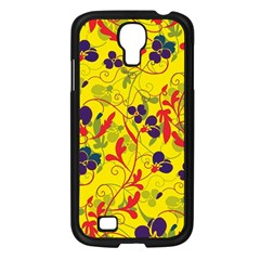 Floral Pattern Samsung Galaxy S4 I9500/ I9505 Case (black) by Valentinaart