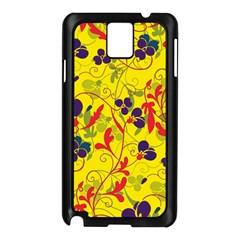 Floral Pattern Samsung Galaxy Note 3 N9005 Case (black) by Valentinaart
