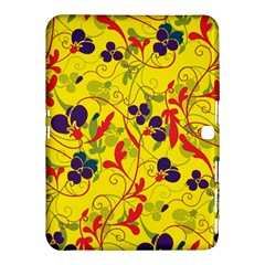 Floral Pattern Samsung Galaxy Tab 4 (10 1 ) Hardshell Case  by Valentinaart