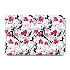 Floral Pattern Small Doormat  by Valentinaart