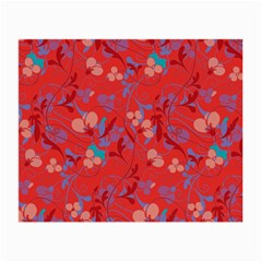 Floral Pattern Small Glasses Cloth by Valentinaart