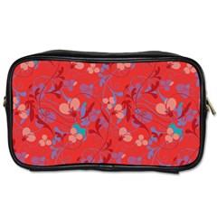 Floral Pattern Toiletries Bags by Valentinaart