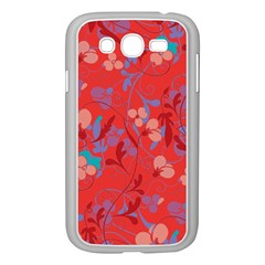 Floral Pattern Samsung Galaxy Grand Duos I9082 Case (white) by Valentinaart