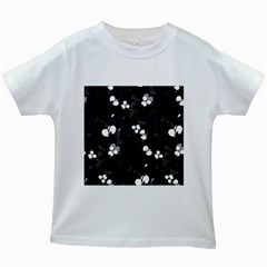 Floral Pattern Kids White T Shirts by Valentinaart