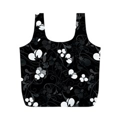 Floral Pattern Full Print Recycle Bags (m)  by Valentinaart