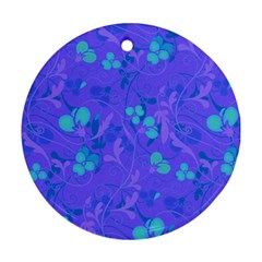 Floral Pattern Round Ornament (two Sides) by Valentinaart
