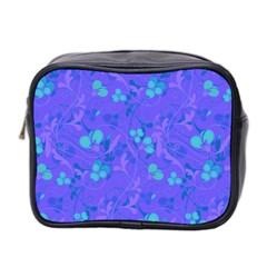Floral Pattern Mini Toiletries Bag 2 Side by Valentinaart