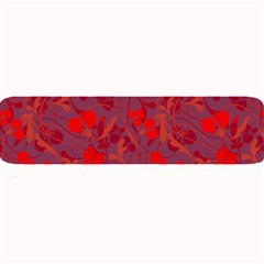 Red Floral Pattern Large Bar Mats by Valentinaart