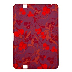 Red Floral Pattern Kindle Fire Hd 8 9  by Valentinaart