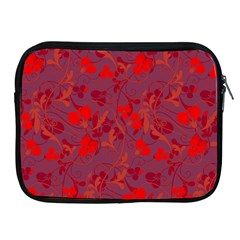 Red Floral Pattern Apple Ipad 2/3/4 Zipper Cases by Valentinaart