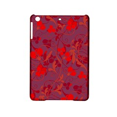 Red Floral Pattern Ipad Mini 2 Hardshell Cases by Valentinaart