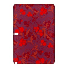 Red Floral Pattern Samsung Galaxy Tab Pro 12 2 Hardshell Case by Valentinaart