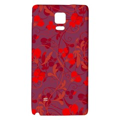 Red Floral Pattern Galaxy Note 4 Back Case by Valentinaart