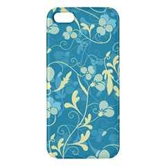 Floral Pattern Apple Iphone 5 Premium Hardshell Case by Valentinaart