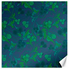 Floral Pattern Canvas 12  X 12   by Valentinaart