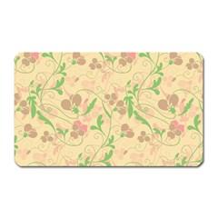 Floral Pattern Magnet (rectangular) by Valentinaart