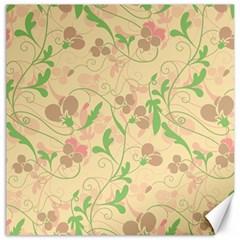 Floral Pattern Canvas 20  X 20   by Valentinaart
