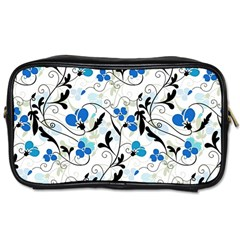 Floral Pattern Toiletries Bags by Valentinaart