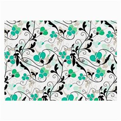 Floral pattern Large Glasses Cloth (2-Side)