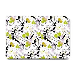 Floral Pattern Small Doormat  by Valentinaart