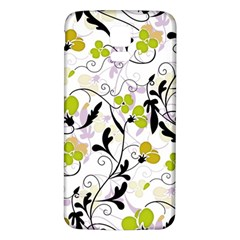 Floral Pattern Samsung Galaxy S5 Back Case (white) by Valentinaart