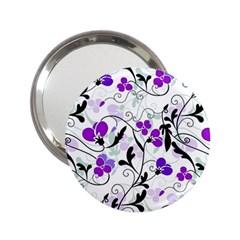 Floral Pattern 2 25  Handbag Mirrors by Valentinaart