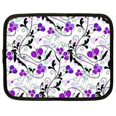 Floral Pattern Netbook Case (xl)  by Valentinaart