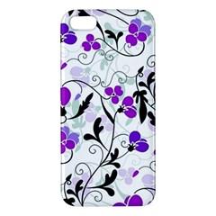 Floral Pattern Apple Iphone 5 Premium Hardshell Case
