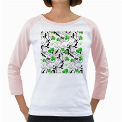 Floral Pattern Girly Raglans by Valentinaart