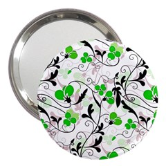 Floral Pattern 3  Handbag Mirrors by Valentinaart
