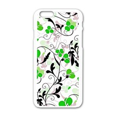 Floral Pattern Apple Iphone 6/6s White Enamel Case by Valentinaart