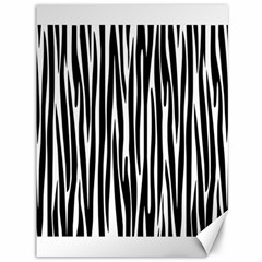Zebra Pattern Canvas 36  X 48   by Valentinaart