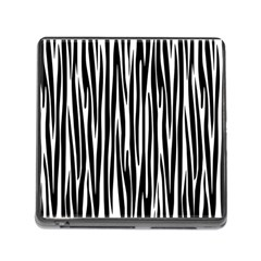 Zebra Pattern Memory Card Reader (square) by Valentinaart