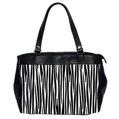 Zebra Pattern Office Handbags (2 Sides)  by Valentinaart