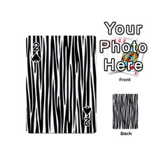 Zebra Pattern Playing Cards 54 (mini)  by Valentinaart