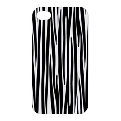 Zebra Pattern Apple Iphone 4/4s Premium Hardshell Case by Valentinaart