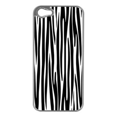 Zebra Pattern Apple Iphone 5 Case (silver) by Valentinaart