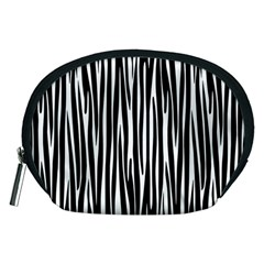 Zebra Pattern Accessory Pouches (medium)  by Valentinaart