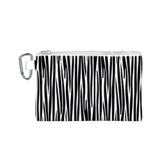 Zebra Pattern Canvas Cosmetic Bag (s) by Valentinaart