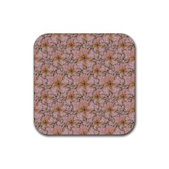 Nature Collage Print Rubber Coaster (square)  by dflcprints