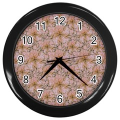Nature Collage Print Wall Clocks (black) by dflcprints