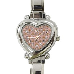 Nature Collage Print Heart Italian Charm Watch by dflcprints