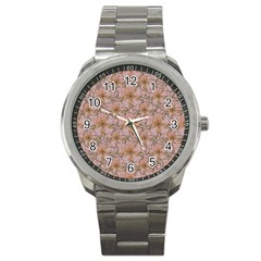 Nature Collage Print Sport Metal Watch by dflcprints