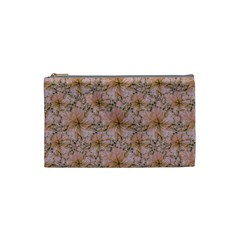 Nature Collage Print Cosmetic Bag (small)  by dflcprints