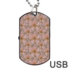 Nature Collage Print Dog Tag Usb Flash (two Sides) by dflcprints